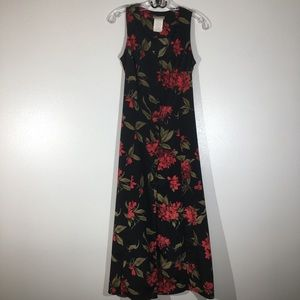 Vintage Expressions Button Front Maxi Dress - 10